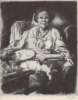 "JOHN SLOAN 1939 WPA Book Print ""MOTHER"" Vintage Portrait Artwork Sketch"