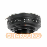 Build in Aperture Canon EOS EF Lens to Micro 4/3 M4/3 Mount Adapter E-P3 GF2 G3