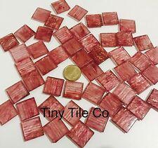 50pcs  Pink Glass Mosaic Tiles