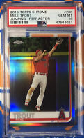 2019 Topps Chrome Refractor-Jumping #200 Mike Trout