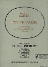 David Walter PETITE VALSE pour Hautbois ou flûte ou clarinette et piano PIERLOT