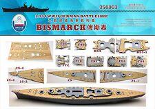 Shipyard 1/350 350003 Wood Deck German Bismarck for Revell