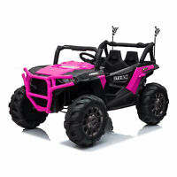 TOBBI 12V Kids Electric Battery Powered Ride On 3 Speed Toy SUV Car, Pink