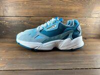 Adidas Originals Women's Falcon Shoes NEW AUTHENTIC Blue/Aqua/Grey EF1963