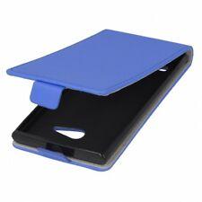 Flip Protection Case LG G4 Stylus Blue Faux Leather Slim Flex Shell Bumper