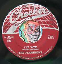 HEAR Flamingos 45 The Vow/Shilly Dilly CHECKER 846 doo wop R&B EX web top 1st