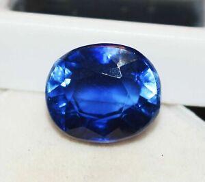 11.95 Cts. Natural Kashmiri Blue Sapphire Oval Shape Certified Gemstone