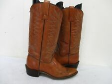 ACME Brown Leather Cowboy Boots Womens Size 7 A Style 76863 USA