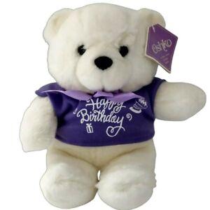 """Oshko Teddy Bear Plush SOFT White Plushie Stuffed Animal Toy Lovey Birthday 9"""""""