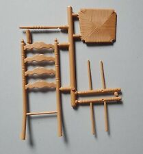 1:12 Scale Chrysnbon Brown Ladderback Chair Kit