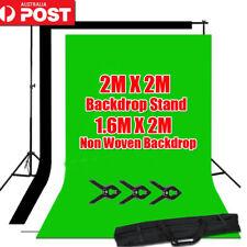 Photo Black White Chromakey Green Screen Backdrop 2x2m Stand Background Kit