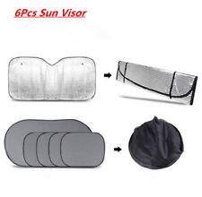 6Pcs Folding Car Window Windshield Sun shade Auto Visor Block Cover Protector
