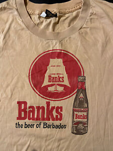 Vintage Banks Beer Of Barbados Caribbean Lager Brewery T-Shirt