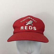 Vtg Cincinnati Reds SnapBack Baseball Cap Embroidered MLB Trucker Hat One Size