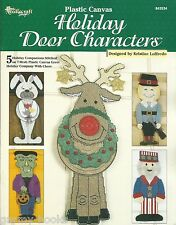 Holiday Door Characters Plastic Canvas Patterns Decorations Needlecraft Shop NEW