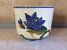 faience Gien cache pot barbotine fleurs flower pot (1)