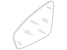 Genuine Volkswagen Mirror Glass 5NN-857-522-A
