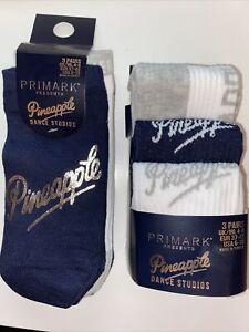 Primark Pineapple Dance Studios 6 pairs socks/liners BNWT