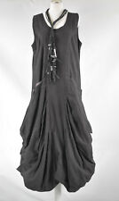 STUNNING  D'Celli COTTON  PARACHUTE QUIRKY DRESS SIZE XLXXL BARELY BLACK