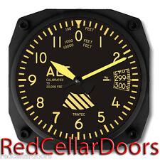 "Trintec Vintage Aircraft Altimeter 9060V Aviation 6"" Wall Clock NEW"