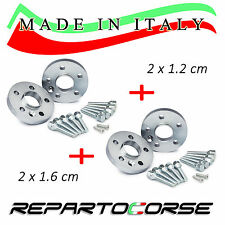 KIT 4 DISTANZIALI 12+16mm REPARTOCORSE VOLKSWAGEN GOLF VII 7 BA5 MADE IN ITALY