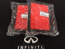 NEW OEM NISSAN INFINITI Set of 2 Engine Air Filter 1654630P00 FX35 Q60 Q50 M56