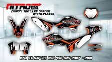 KTM SX SXF 125 250 350 450 525 2007-2010 MX Graphics Kit Decals Design Stickers