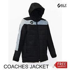 Coaches jacket black/grey zip up hooded size S