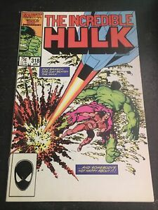 Incredible Hulk#318 Incredible Condition 9.0(1986) Doc.Samson, Byrne Art!!