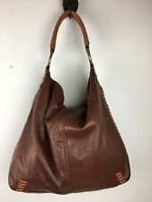 Lucky Brand Vintage Inspired Purse Soft Leather Whipstitch Hobo Large Pennys Bag