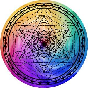 """Metatrons Cube II Geometry Grid 5"""" Metaphysical Reike healing crystal grid"""
