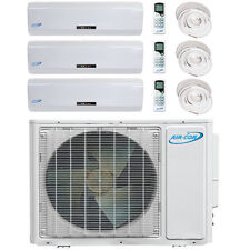 Tri Zone Ductless Mini Split Heat Pump 12000/12000/12000 With Inst. Kit 15 Ft