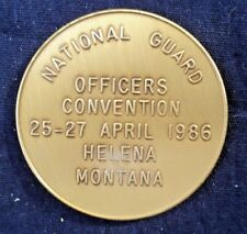 National Guard 1986 Officers Convention Helena Montana Token Coin Medal Jewelry
