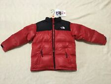 The North Face KIDS Nuptse Goose Down 600 Zip Up JacketS RED BLACK