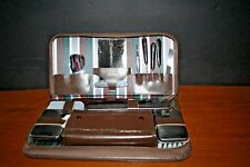 Antique Men's Travel Shaving & Manicure Kit Vanity Set WEST GERMANY COMPLETE EUC