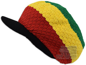 Rasta Hat Jamaica Marley Reggae Cap Rastafari Dreadlocks Tam Roots Cotton Africa