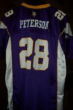 Reebok Minn Vikings  ADRIAN PETERSON  Purple Football Jersey  Size YOUTH  XL