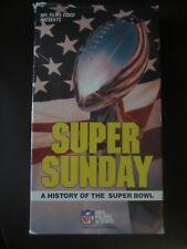 VHS NFL Super Sunday History of Super Bowl I - XXII Color Memorable Moments
