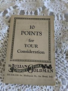 The Julian Goldman Peoples Store Needle Book South Bend Indiana