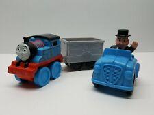 "Mattel 2010 Thomas & Friends Lot of 4 Sir Topham Hatt 3"" Tall Figure & Blue Car"