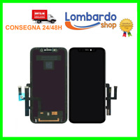TOUCH SCREEN LCD DISPLAY RETINA COMPATIBILE PER APPLE IPHONE 11 VETRO NERO