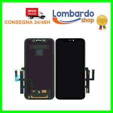 TOUCH SCREEN LCD DISPLAY RETINA COMPATIBILE PER APPLE IPHONE 11 VETRO NERO