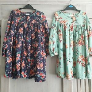 GIRLS NEXT X2 4-5 YEARS 110 CMS cotton DRESSES TUNICS.immaculate !!