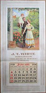 Clairton, PA 1920 Advertising Calendar/17x35 Poster: WWI Art, J. T. White Store