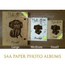 Saa Mulberry Paper Photo Album Thai Handmade Elephant Cover Natural Large Rare