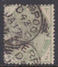c.1884 Great Britain GB QV 4d Queen Victoria Green Used       REF: QV4GE