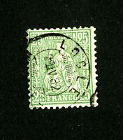 Switzerland Stamps # 65 VF Town Cancel Scott Value $110.00