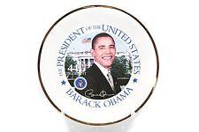 Barack Obama 44th President of the United States Plate Historical Commemorative