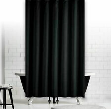Cortina de ducha de tela Liso Negro 240 x 230cm Extra Larga spezialanfertigung