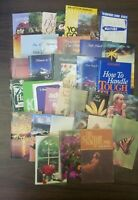 Lot of 37 Vintage Religious Pamphlets & Booklets 1970's thru 1990's